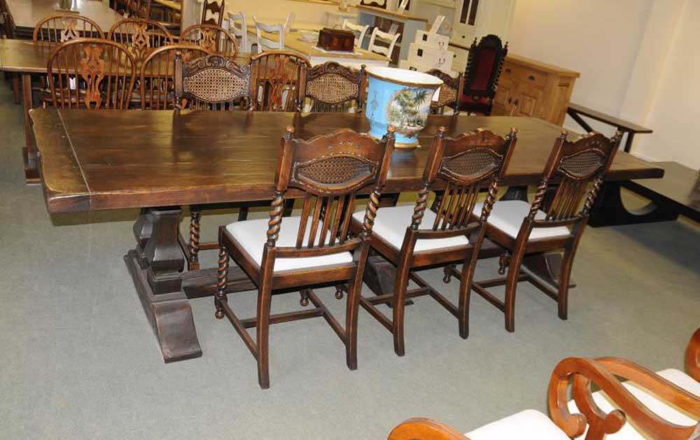 table set barley twist kitchen dining chairs refectory tables