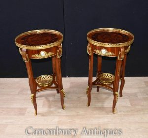 Pair French Empire Side Table Planter Jardinieres
