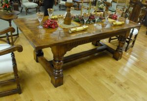 English Abbey Oak Rustic Refectory Table