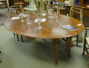French Cherry Banded Pad foot Drop Leaf Dining Table Tables