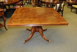 Square Pedestal Table Cherry Wood Rustic Farmhouse Dining