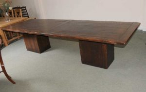XL Oak Refectory Kitchen Dining Table Box Base Tables